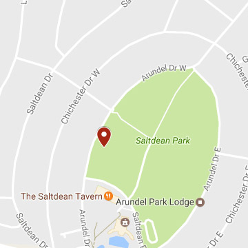 Map of Saltdean Tennis Club Tennis Club